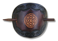 Keltische Lederhaarspange