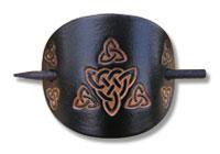 Keltische Lederhaarspange (x)