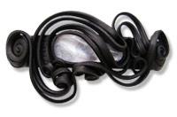 Haarspange mit Kristall - Clip (oos)