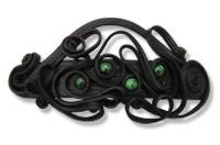 Haarspange mit Malachit (Perlen) - Clip