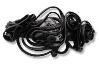 Haarspange mit Obsidian - Clip