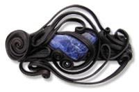 Haarspange mit Sodalith - Clip