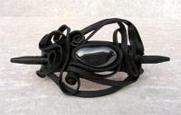 Haarspange mit Hämatit - Stab