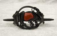 Haarspange mit Jaspis (rot) - Stab