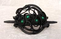 Haarspange mit Malachit (Perlen) - Stab
