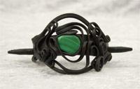 Haarspange mit Malachit (Stein) - Stab