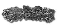 Haarspange Eichenblatt