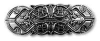 Haarspange Keltischer Pfau