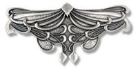 Haarspange Art Nouveau Blatt