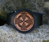 Lederarmband mit Keltischem Kreuz