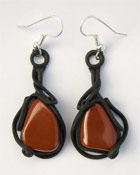 Ohrringe mit Jaspis (rot)