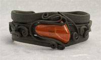Armreifen mit Jaspis (rot)