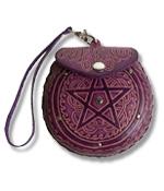 Pentagramm Ledergeldbeutel