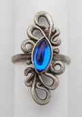 Fantasy Ring mit Glasstein