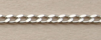 Panzerkette 40 diamantiert rhodiniert