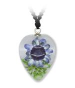 Violette Blume Herz-Anhänger