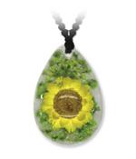 Gelbe Blume Tropfen-Anhänger