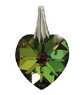 Kristallherz Reflektierendes Grün