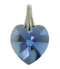 Kristallherz Blau