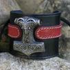 Keltische und Wikinger-Lederarmbänder